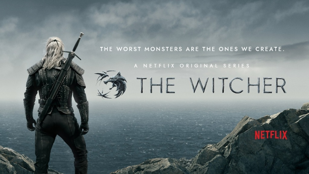Cartel promocional de la serie The Witcher de Netfix