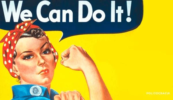 Cartel icónico en el que Rosie la remachadora anima a las mujeres a trabajar en las fábricas