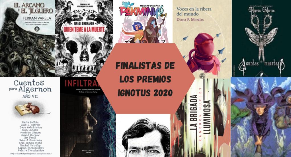 Portadas de obras finalistas en los Ignotus 2020