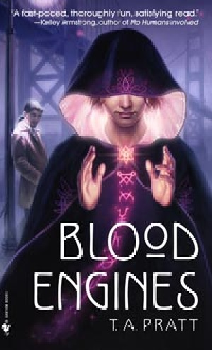 Cubierta de Blood engines, Spectra Books, 2007
