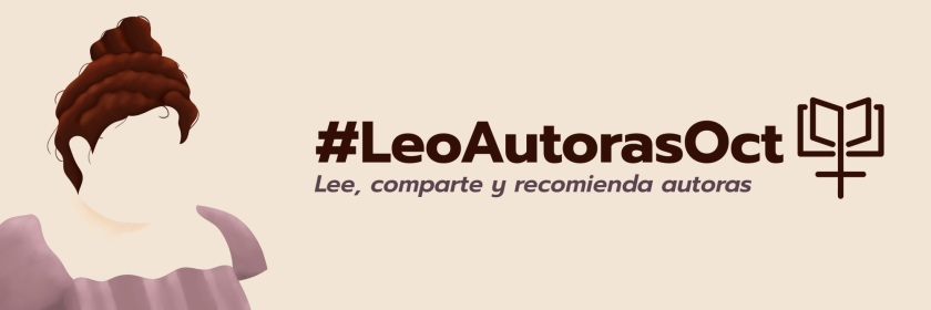 Cartel de #LeoAutorasOct 2021, obra de Laura Soriano